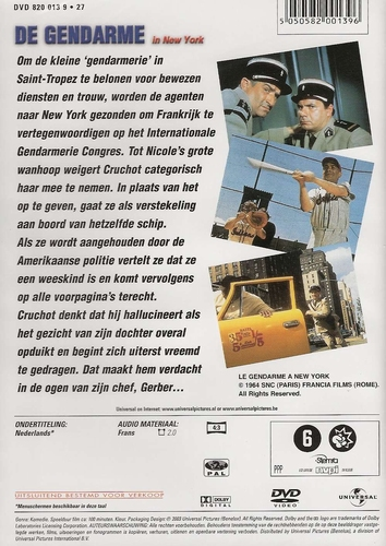 Louis de Funes DVD - De Gendarme in New York